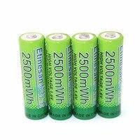 4ชิ้น/ล็อตNiZn 1.6โวลต์2500mWh AAแบตเตอรี่แบบชาร์จไฟฮอร์น,พัดลม,หูฟัง,โทรศัพท์,ไมโครโฟน,คีย์บอร์ดไร้สา...