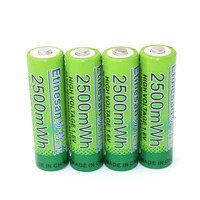 4 pçs/lote NiZn 1.6 V AA 2500mWh Bateria Recarregável chifre, ventilador, fone de ouvido, telefone, microfone, teclado e mouse sem fio da câmera