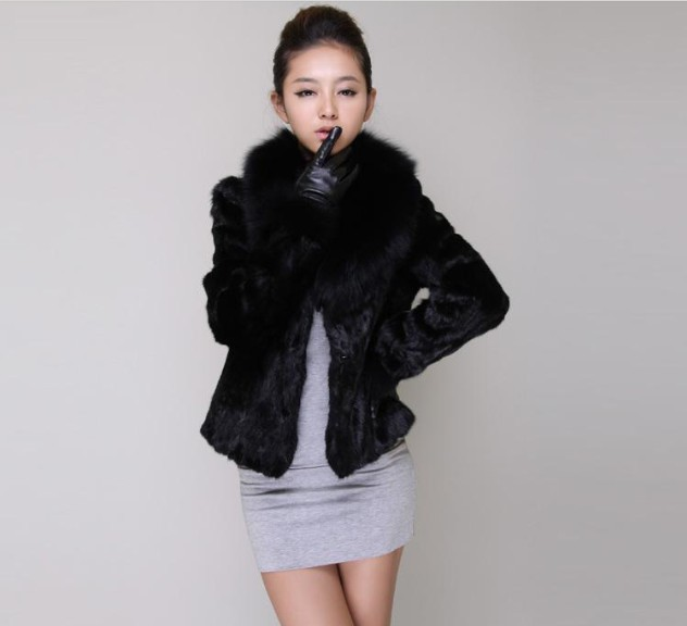 2015New Winter Women Elegant Imitation For Fur Collar Short Design ...