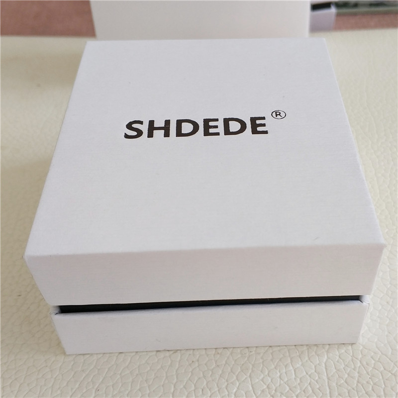 SHDEDE Brand Jewelry Box For Necklace Bracelets White Paper Gift Box High Quality Famous