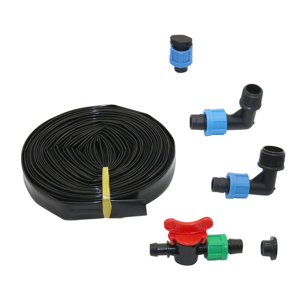 Irrigation Hose Available in 3 Lengths PVC Heavy Duty Flexible Garden Hose for Industrial//Agriculture 10m Black