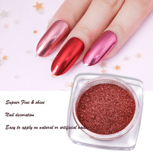 Born Queen Metallic Mirror Nail Powder Super Shine Nail Glitters Red Gold Manicure Nail Art Glitter Chrome Dust Decoration