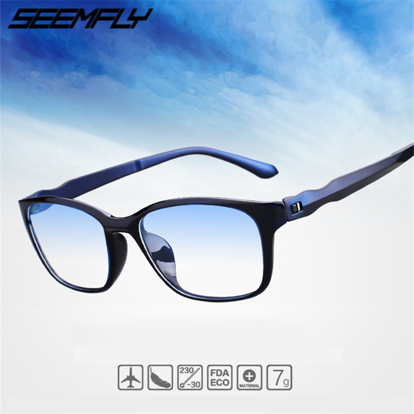 Seemfly Fashion Anti Blue Rays Reading Glasses Men Women High Quality TR90 Material Reading Eyeglasses Prescription 0 To +4.0