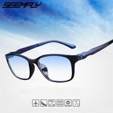 Seemfly Fashion Anti Blue Rays Reading Glasses Men Women High Quality TR90 Material Eyeglasses Prescription 0 To +4.0