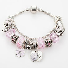 Best-selling beaded bracelet DIY pink beads angel bracelet with high quality in and the snake bone bracelet(China)