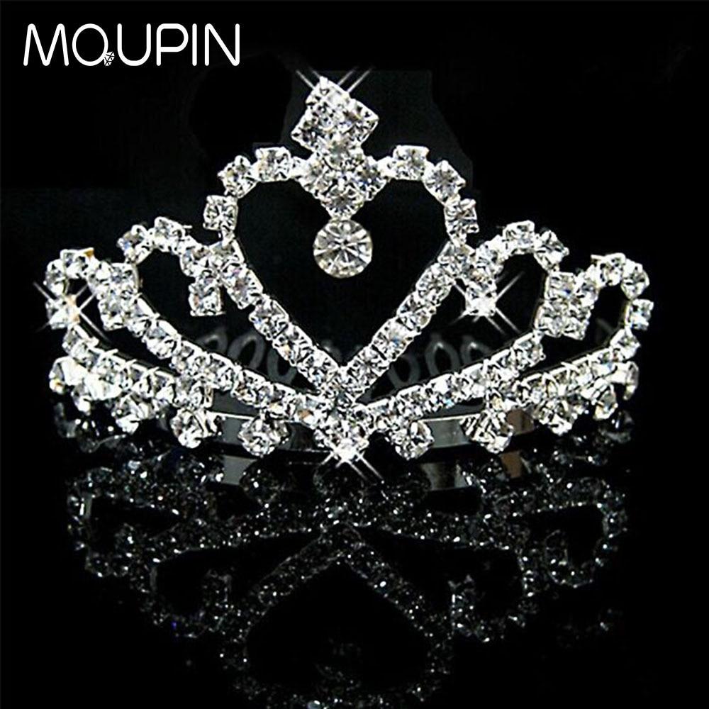 MQUPIN Bridal Crowns Handmade Tiaras hairwear Headband Crystal jewelry Wedding Diadem Queen Crown Wedding Hair Accessories