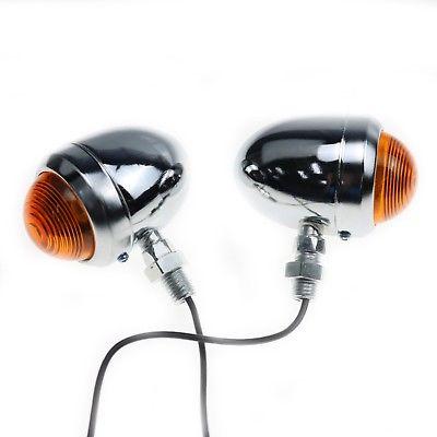 Motorcycle Bullet Turn Signals Indicator Light For Harley Honda Kawasaki Suzuki
