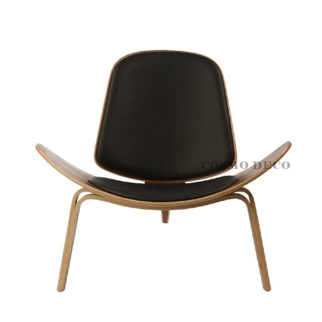 pas cher wegner shell chaise fauteuil scandinave mode minimaliste chaise de loisirs cratifs chaise en bois - Chaise Fauteuil Scandinave