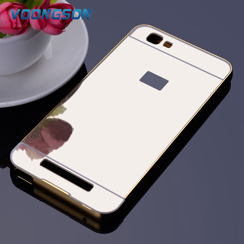 For ZTE Blade A610 A 610 Phone Case Metal Gold Bumper Mirror Hard Plastic Case For ZTE Blade V6 Max/A610 Back Cover Coque Fundas