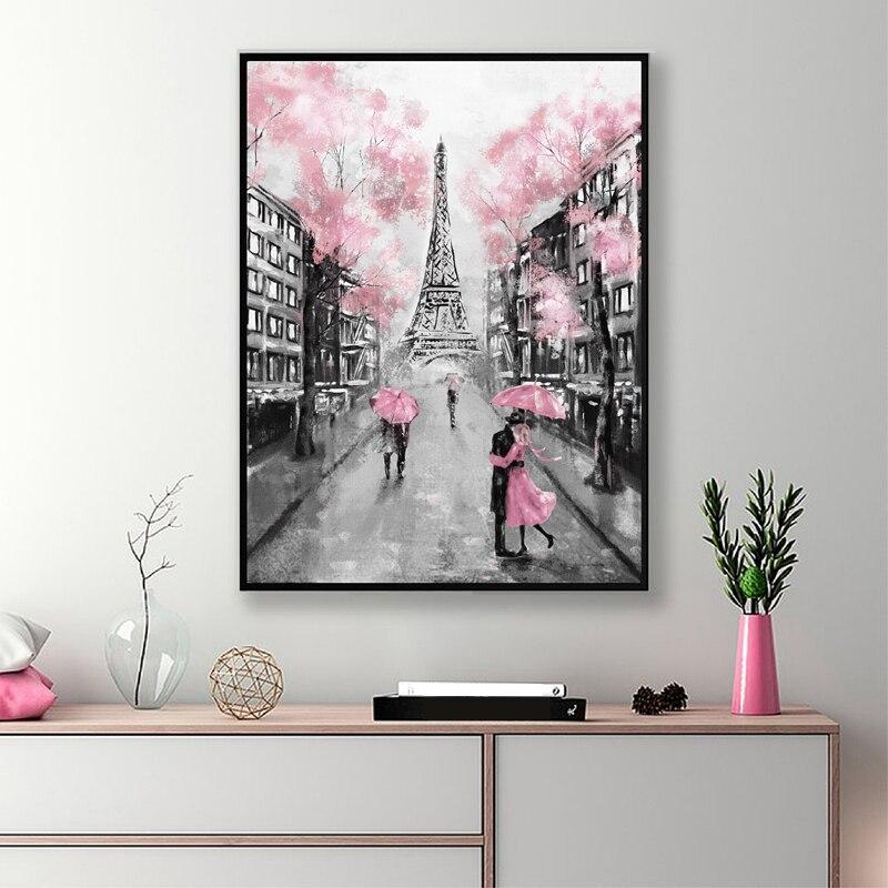 Oil Painting Paris Poster Home Decor