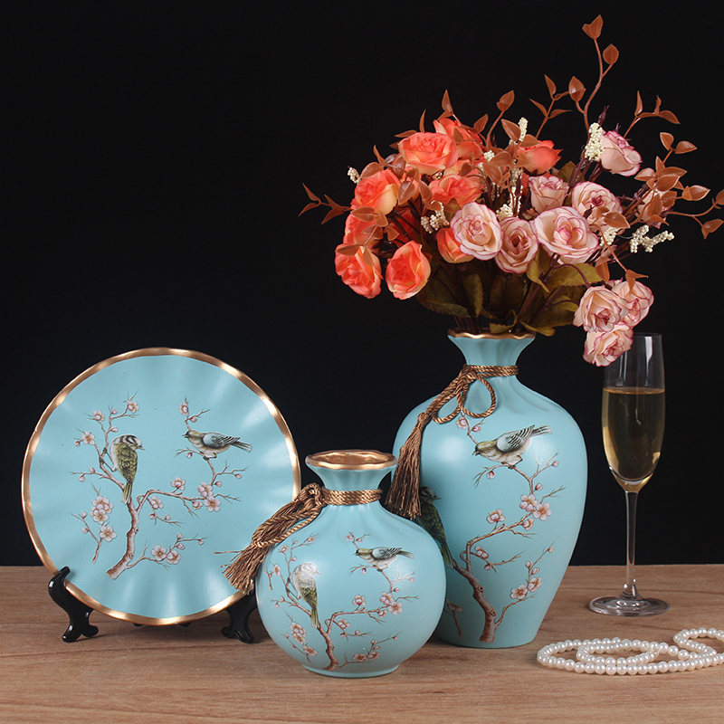 3pc Set Europe Ceramic Vase curio shelves Nordic decoration home flower vase centerpieces for weddings traditional Vases in Vases from Home Garden