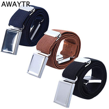 AWAYTR Boy Kids Magnetic Buckle Belt Adjustable Elastic Children s Belts Elastic Waistband Adjustable Belt for