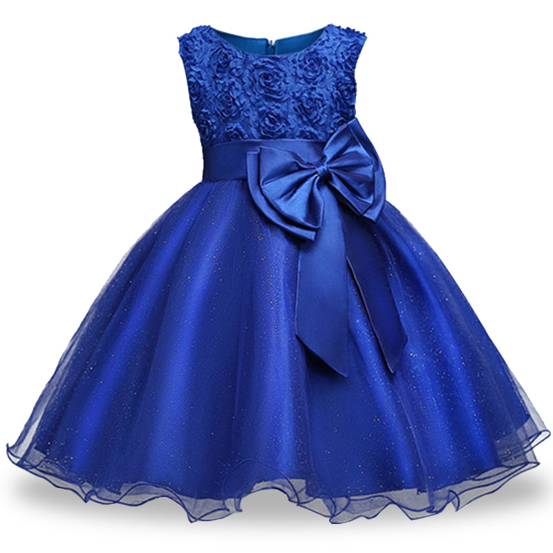 Retail high quality   flower   tassel   girls   evening prom party   dress     girls   wedding first communion   dress   With Bow baby costume 18