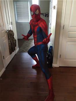 新加入クラシックスパイダーマンコスプレ衣装タイツ3d印刷スパイダーマンのスーツ子供大人のスーパーヒーロー衣装でスパイダーマンレンズ/目