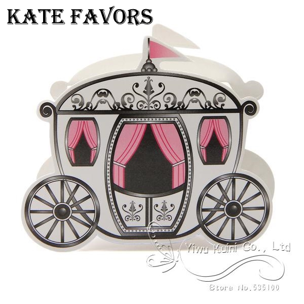 Enchanted Carriage Wedding Favor Boxes Gifts Box For Sweet Party Candy Packaging