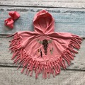 antlers clothes kids cloak outfits baby girls hoodie clothing dream catch coral clothing children boutique tassels match bow