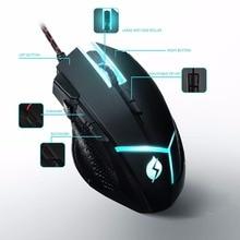 M18 Professional Gaming font b Mouse b font Adjustable Weight 4000 dpi and 8 DPI Adjustment