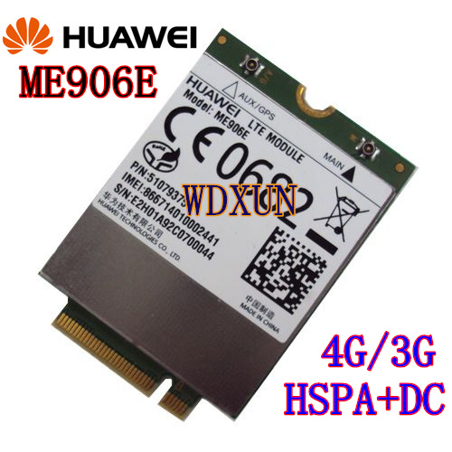 HUAWEI ME906E MU736 ME906J ME906V ME906E LTE 4G module NGFF interface Penta-band HSPA/WCDMA huawei me906e 2 pcs ipx4 ngff m 2 tv antennas 100% original fdd lte 4g modules wcdma gsm surpport gps module available