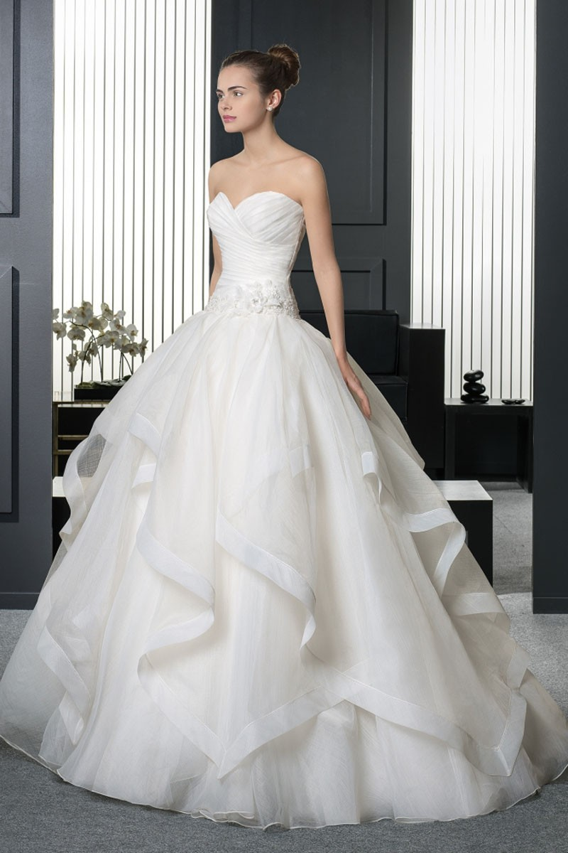Organza Ruffled Ball Gown Dresses Dressesss