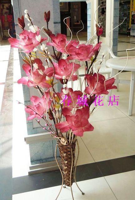 Simulasi Floweryunnan Kering Aromatik Peoni Bunga Palsu Vena Lantai Ruang Tamu Hias