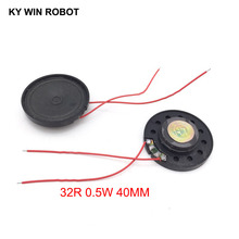 2pcs/lot New Ultra-thin Toy-car horn 32 ohms 0.5 watt 0.5W 32R speaker Diameter 40MM 4CM With Wire