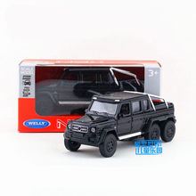 Welly DieCast Metal Model/1:36 Scale/G63 AMG Pickup Truck Toy Car/Pull Back Educational Collection/For Children's Gift(China)