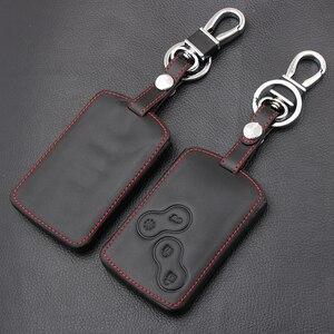 Image 1 - Coque en cuir à 4 boutons, housse pour RENAULT SCENIC CLIO LAGUNA MEGANE, CAPTUR, KOLEOS DUSTER, SANDERO, TWINGO
