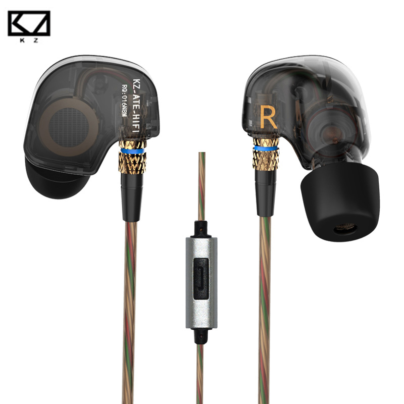 Original KZ ATR 3.5mm In Ear Earphones HIFI Stereo Sport Earphone With Microphone Super Bass Noise Isolating for iphone xiaomi super bass in ear sport earphone with microphone hifi stereo noise isolating music earphones headset for mobile phone iphone mp3