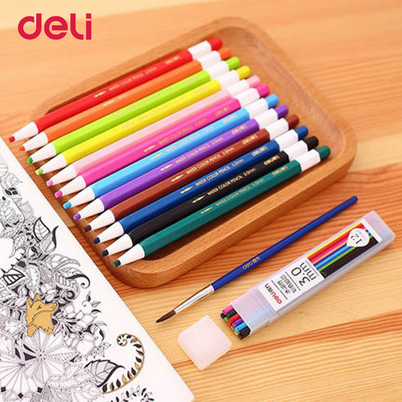 Deli 24colors professional aoto watercolor pencils set for for Professional painting supplies