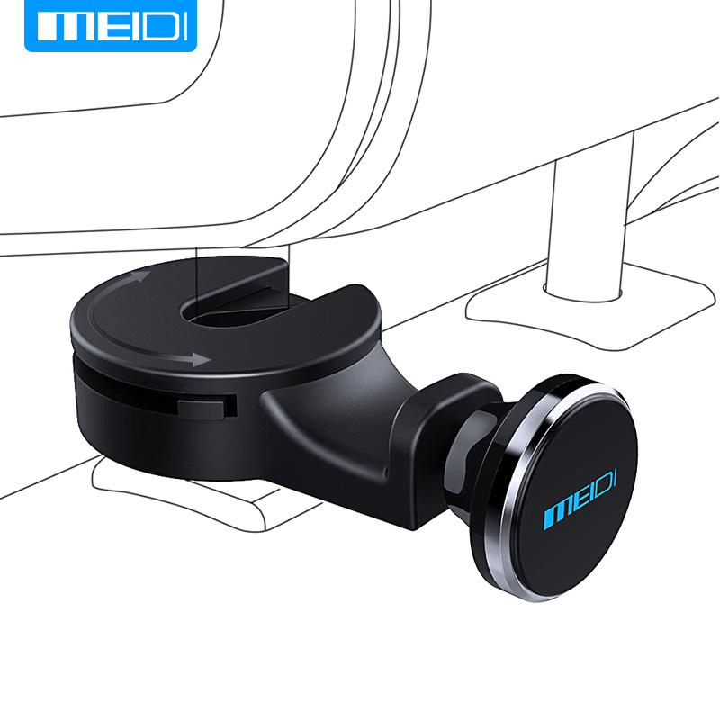 MEIDI Universal Car Headrest Mount Magnetic Car Phone