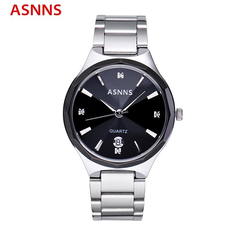 ФОТО ASNNS Brand Luxury Men Watches Stainless Steel Quartz Men Dress Wristwatch Waterproof Male Sport Watch relogio masculino