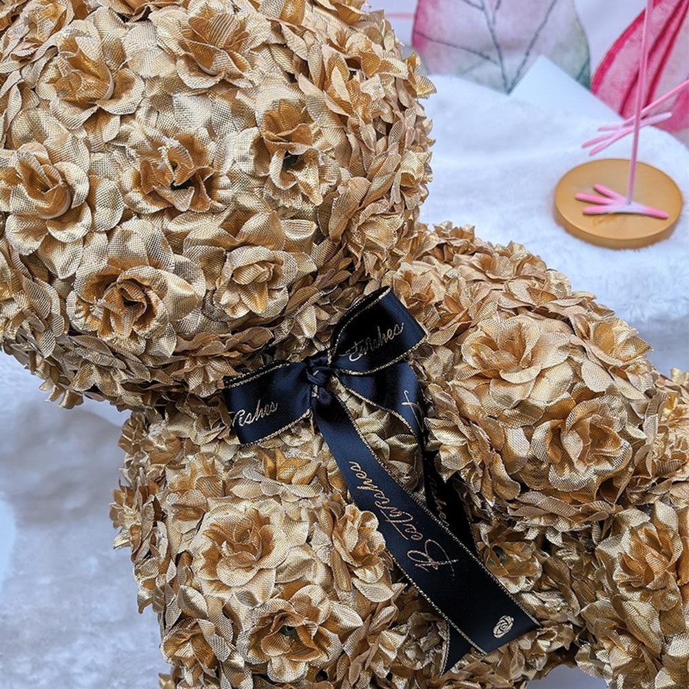 Nouveau 2018 noël PE mousse or Rose lapin saint valentin maison mariage anniversaire cadeau créatif artisanat - 4