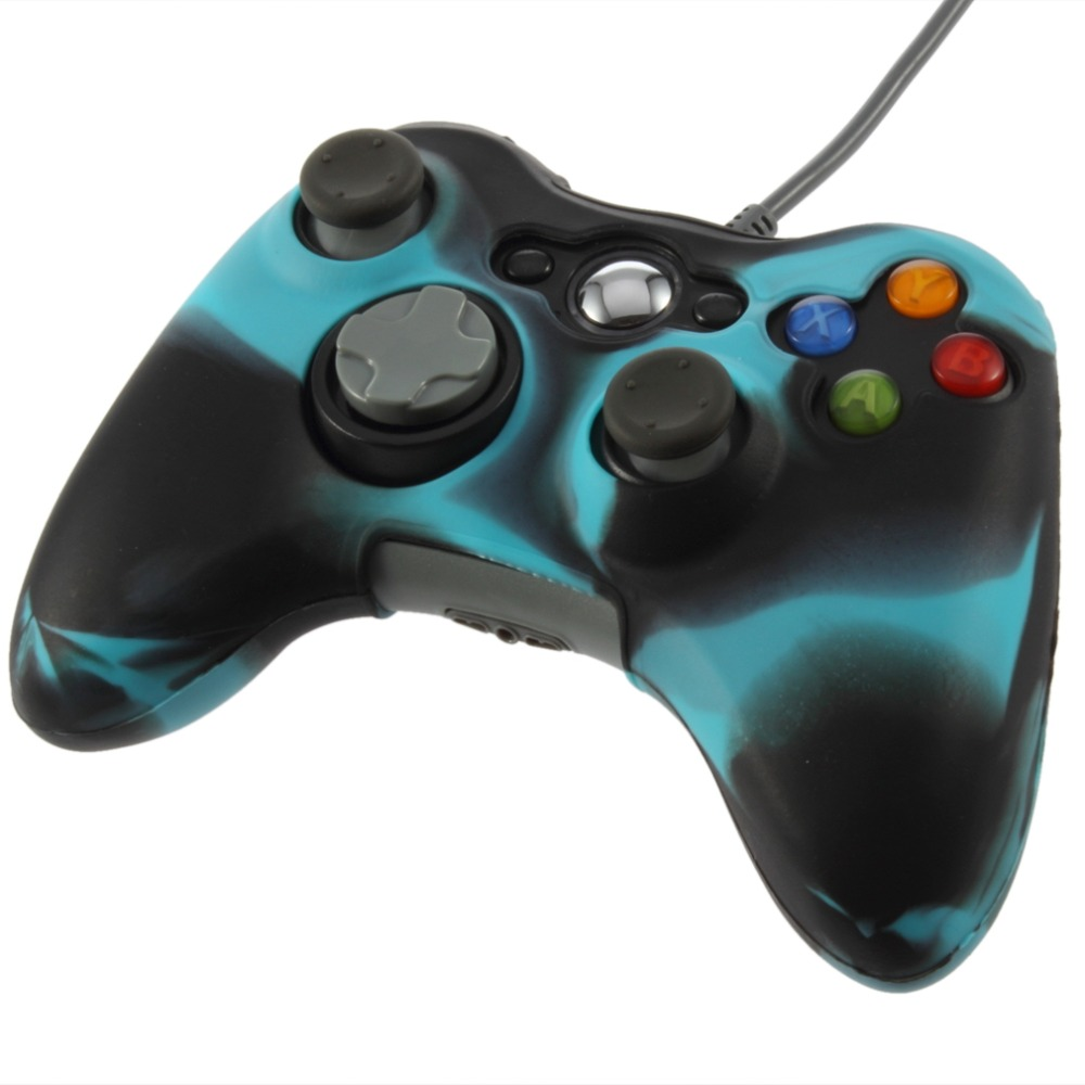 1Pc Cool Army Camouflage Silicone Cover Joystick Gel Skin Soft Protective Case for Xbox 360