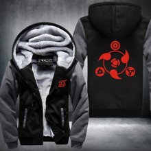 Anime Skihood NARUTO Akatsuki Thicken Jacket Luminous Hoodies