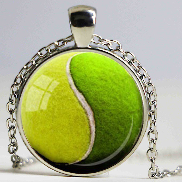 Yin yang tennis ball pendant tennis lover gift glass pendants yin yang tennis ball pendant tennis lover gift glass pendants necklace green yellow sports pendant jewelry mozeypictures Gallery