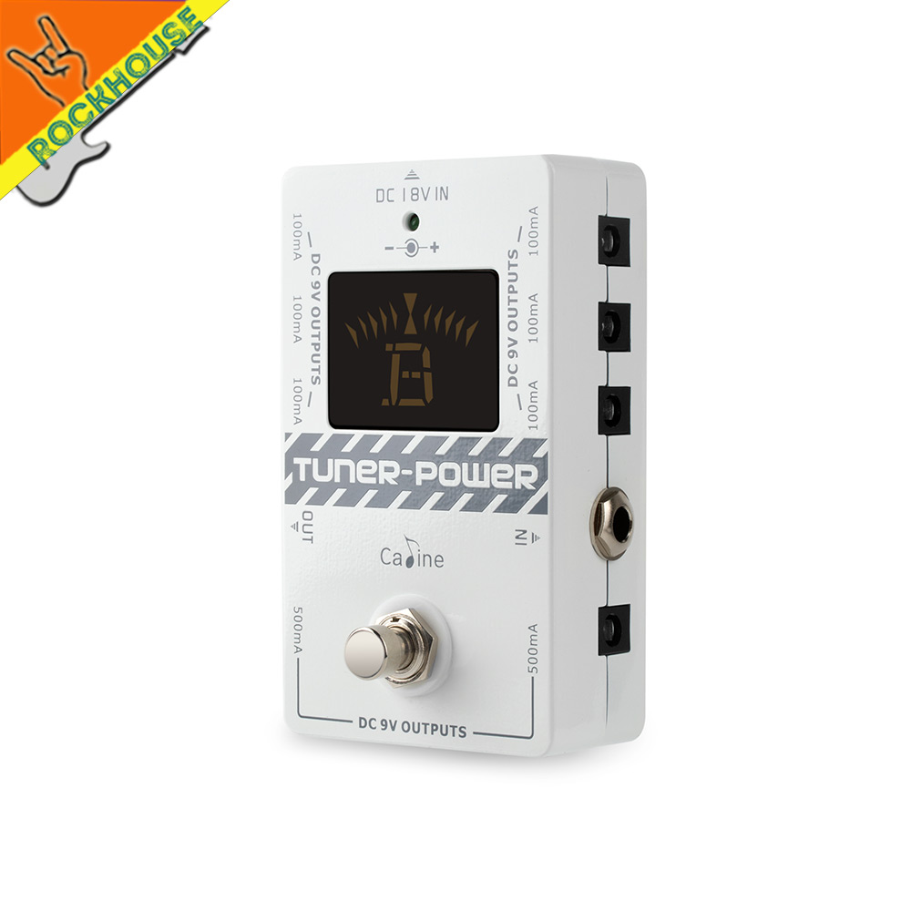 NEW CP-09 Guitar Effect Pedal Power Supply&tuner 2-in-1 DC 8 way Isolated Output 6 for 100ma and 2 for 500ma voltage protection mooer baby tuner tuner pedal 108 high brightness led and is visible even in strong light and sun guitar pedal effect pedal