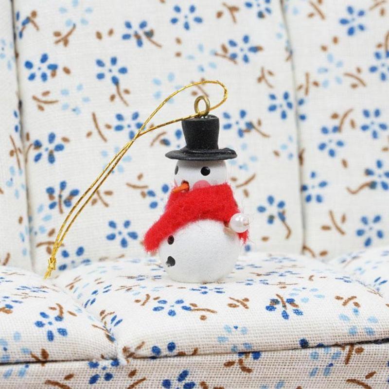 Dongzhur Mini Snowman Christmas Tree Ornaments Dollhouse Miniatures