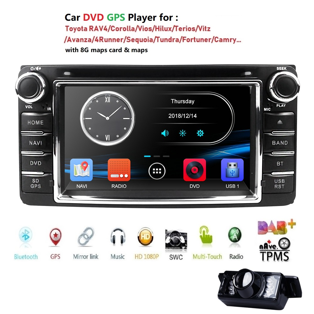 6.2 2 Din Touch screen Universal Stereo Car DVD Radio CD player GPS Navi For Toyota Rav4 Corolla Hilux Vios Camry Steel DVBT BT6.2 2 Din Touch screen Universal Stereo Car DVD Radio CD player GPS Navi For Toyota Rav4 Corolla Hilux Vios Camry Steel DVBT BT
