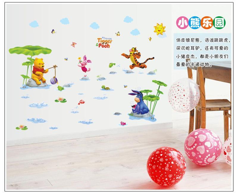 HTB1Wm2OKpXXXXXQXVXXq6xXFXXXS - Animals zoo cartoon Winnie Pooh wall sticker for kids room