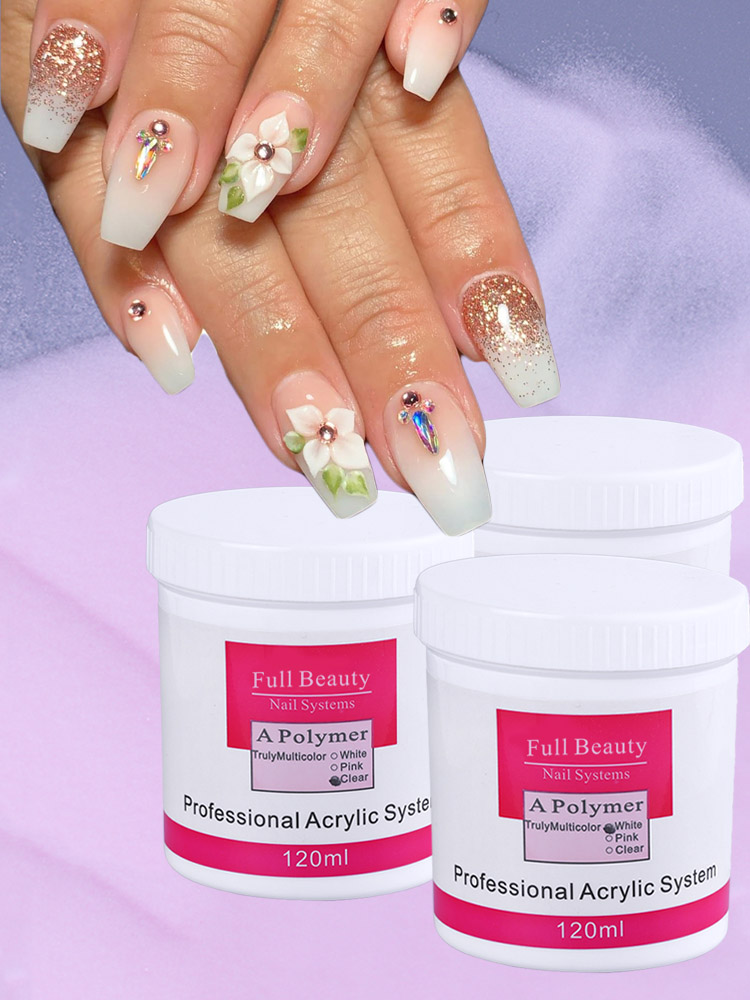 Top 10 Largest White Glitter Powder Acrylic Nails Ideas And Get Free