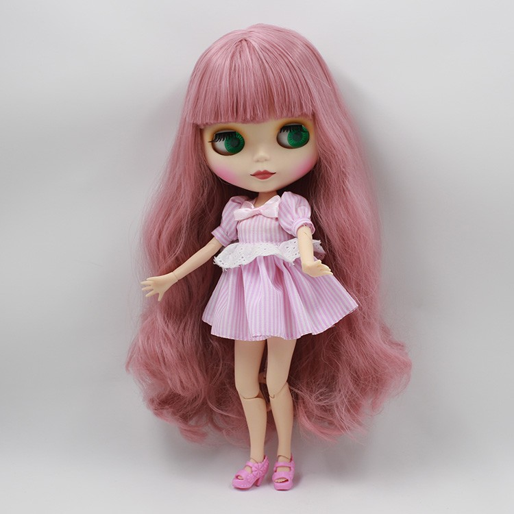 Neo Blythe Doll with Pink Hair, White Skin, Matte Face & Jointed Body 2