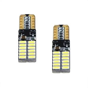 Image 5 - 100PCS אוטומטי LED T10 W5W Canbus 194 4014SMD 24LED הנורה קריאת עמילות חניה פנים אור 6000K עבור Motocycle סיטונאי 12V