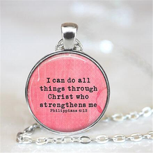 Bible Verse Jewelry Bible Necklace Philippians 4:13 Bible Verse Inspirational Jewelry Inspirational Necklace Scripture HZ1