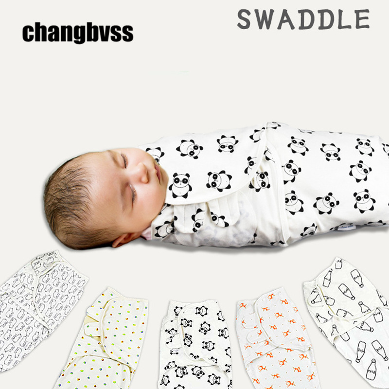 Pure Cotton Newborn Swaddle Envelope For Newborns Baby Sleeping Bag Baby Sleep Sacks Breathable Infant Wrap for Newborns to 6 M boy girl infant wrap envelop for newborns sleeping bag pure cotton printed with fawn patterns thicken in autum winter or sprin