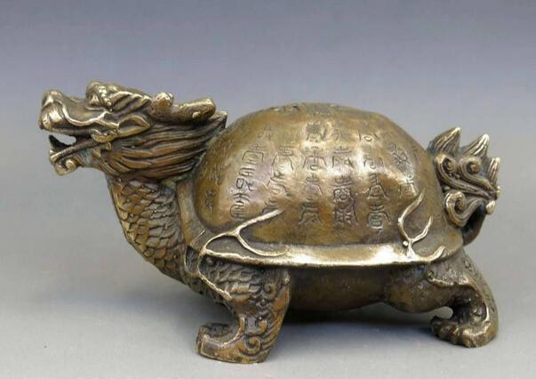 Chinese Brass Copper Fengshui God Animal Dragon Turtle Statue In Statues U0026  Sculptures From Home U0026 Garden On Aliexpress.com | Alibaba Group
