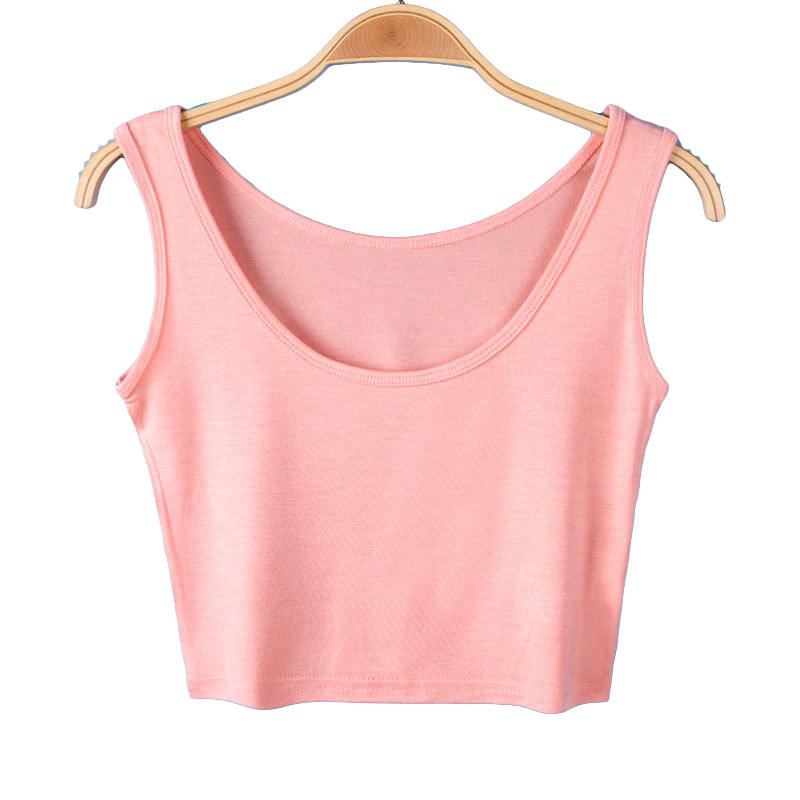 Women Crop Top Female Tank Tops Sexy Short Womens T Shirt -1545