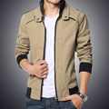Free shipping 2015 autumn and winter fashion explosion models men's jacket Korean fashion solid color coat