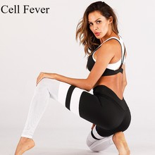 Women Sportswear Yoga Set Fitness Gym Clothes Running Sport Bra+Pants Yoga Leggings Jogging Workout Contrast 2 Piece Sport Suit цена