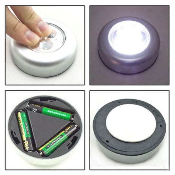 3 LED Light Battery Powered Stick Tap Touched Light Lamp Home Decor Supplies CLH