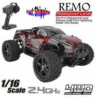 REMO 1635 1625 1655 1/16 2.4G 4WD Waterproof Brushless Off Road Monster Vehicle Models 50km/h Outdoor RC Car